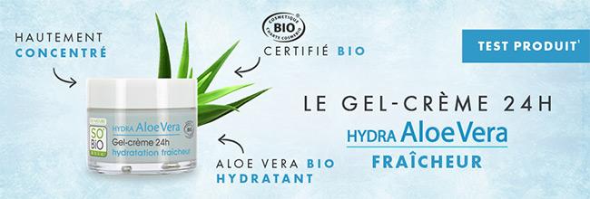 Testez gratuitement le Gel-crème Hydra Aloe Vera de SO'BiO étic