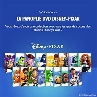 Jeu Disney Extras : Collection de 17 DVD Disney Pixar à gagner