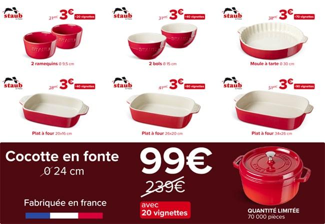 Opération Vignettes poêles casseroles Inductiva Carrefour Market
