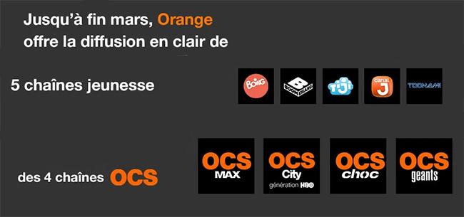 Accédez gratuitement aux chaîne jeunesse et à OCS via Orange