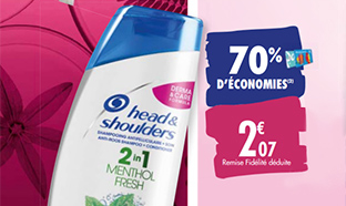 Promo Carrefour : Shampooing Head & Shoulders à -70%