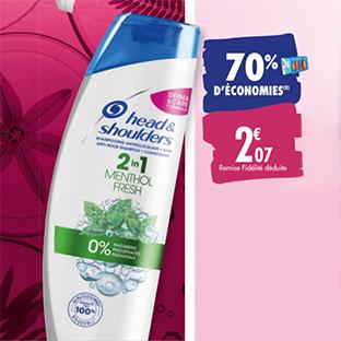 Promo Carrefour : Shampooing Head & Shoulders à -70%
