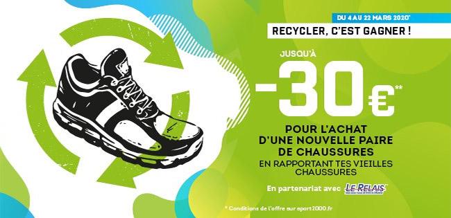 Sport 2000 : vos vieilles baskets = 30€ offerts