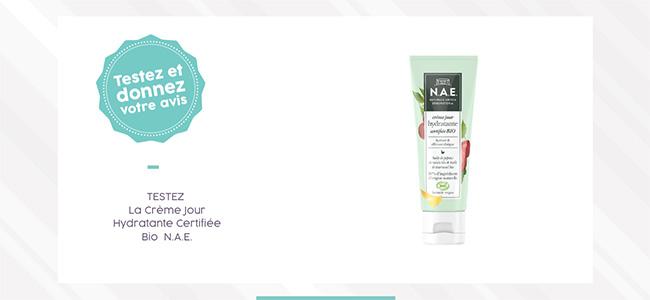 testez la crème jour hydratante certifiée de N.A.E