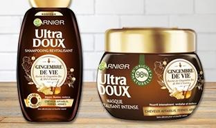 Test Garnier Ultra Doux Gingembre de vie : 300 produits gratuits