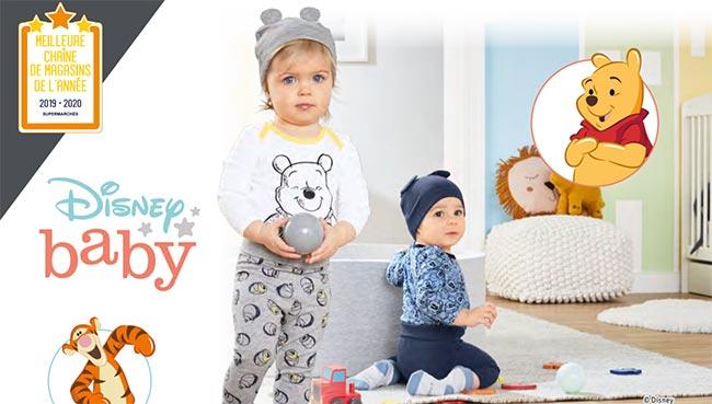 Collection de vêtements Disney Baby pas cher dans votre Lidl