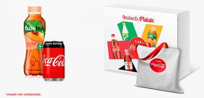 box dégustation Coca Cola à gagner