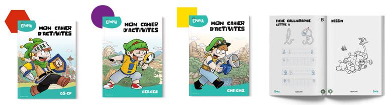Obtenez gratuitement les cahiers d'activités pour enfants d'Epopia