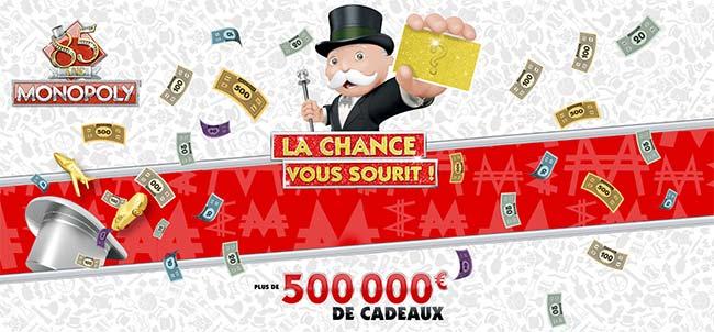 Code unique à saisir sur www.monopoly85.fr