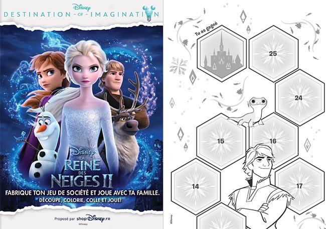 Imprimez gratuitement le jeu de société La Reine des Neiges de Disney