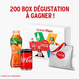 Instants Plaisir Box dégustation Coca Cola : Coffret de boissons