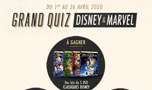 Jeu Kiabi : Quiz Disney & Marvel avec 110 cadeaux à gagner