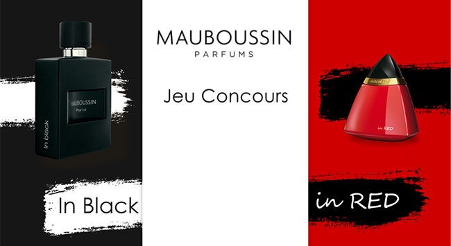 Remportez l'un des parfums In Black ou In Red de Mauboussin
