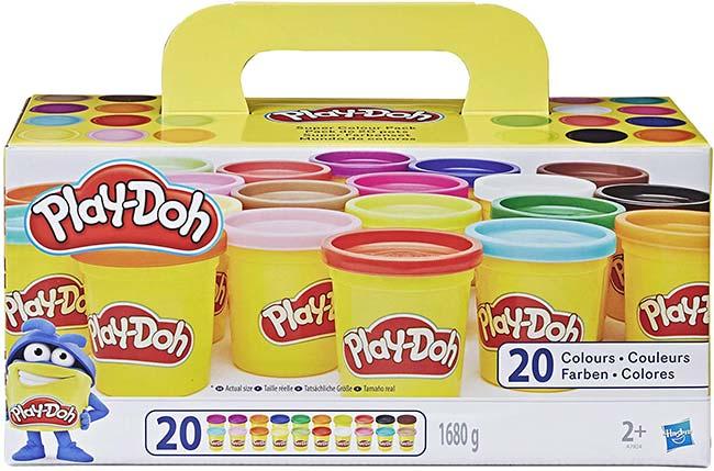 Lot de 20 pots de pâtes à modeler Play Doh à moitier prix