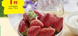 Promo Carrefour : Barquettes de fraises gariguette pas chères