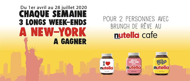 Tentez de gagner un séjour à New-York avec le code unique Nutella