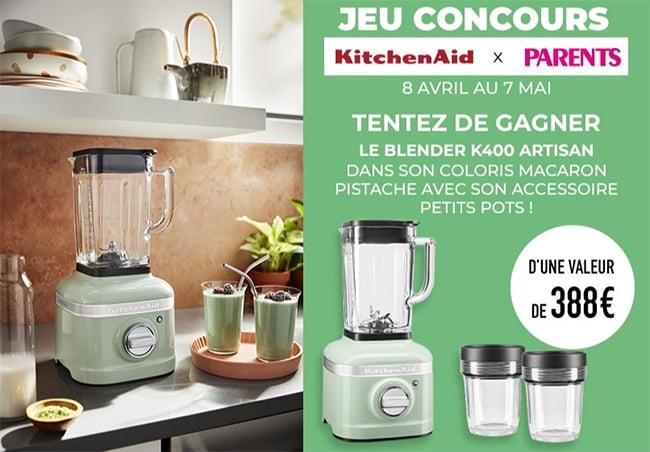 Tentez de remporter votre Blender Artisan K400 KitchenAid avec ParentsTentez de remporter votre Blender Artisan K400 KitchenAid avec Parents