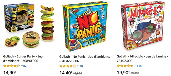 Bons plans Goliath sur Amazon