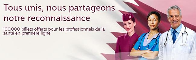 voyager gratuitement avec Qatar Airways: Billets aller/retour offerts