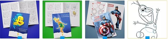 Imprimer les livrets Disney offerts pour apprendre à dessiner