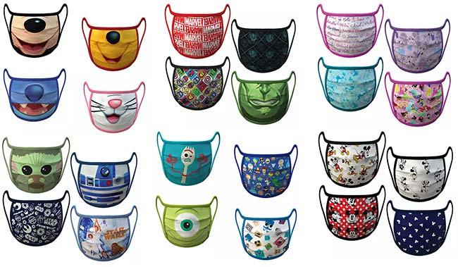 Précommande de masques Disney sur le site shop disney
