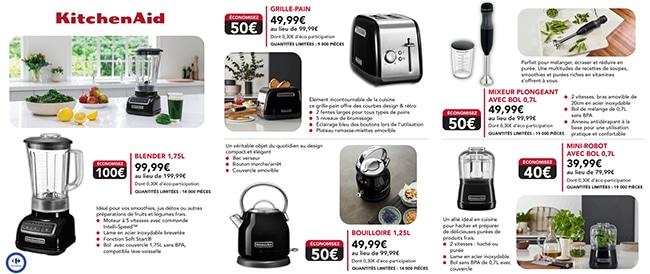 Petit électroménager KitchenAid à petit prix chez Carrefour
