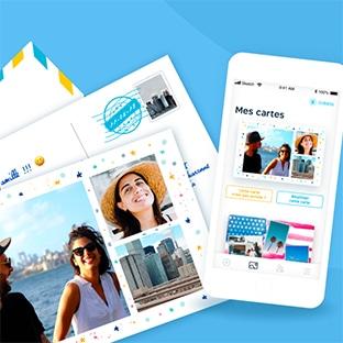 Fizzer : cartes postales personnalisables gratuites