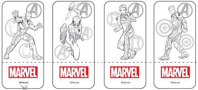 Imprime, découpe, colorie et colle le jeu de société Avengers Marvel Disney
