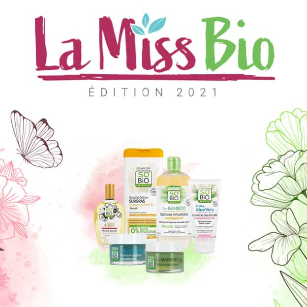 Jeu La Miss Bio 2021 : 150 lots de cosmétiques SO'BiO étic