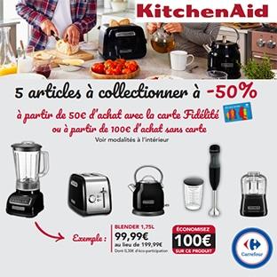 Carrefour : articles KitchenAid à -50% (offre collector sans vignette)