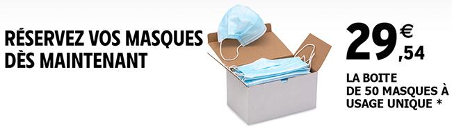Réservez votre lot de masques sur le site d'Intermarché