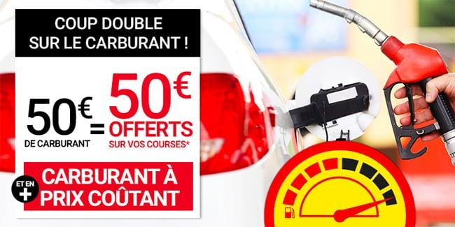 Essence et diesel à moindres frais + réduction Géant Casino