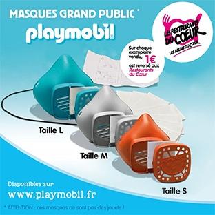 Masques réutilisable Playmobil à commander
