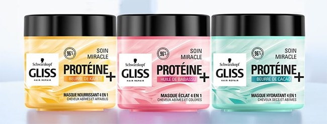 testez le soin capillaire Gliss Miracle Protéine + 4 en 1