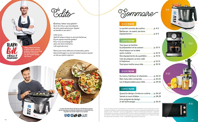 Sommaire catalogue cuisine Lidl