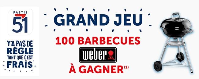 Gagnez un barbecue Compact Kettle Weber avec Pastis 51
