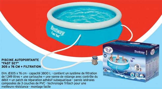 Bon plan piscine autoportante Bestway moins chère chez Intermarché
