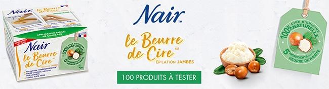Tester gratuitement le Beurre de Cire Nair avec Femme Actuelle