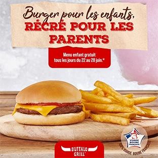 Buffalo Grill : Menu enfant offert tous les jours