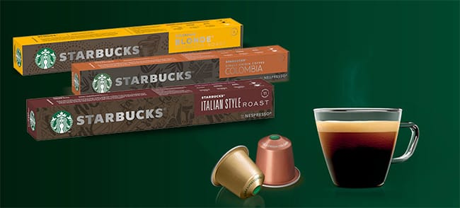 testez gratuitement les dosettes Starbucks pour machines Nespresso