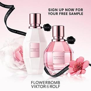 Viktor&Rolf : Échantillons gratuits Flowerbomb Dew & Classic
