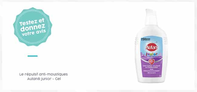 Tentez de tester gratuitement le répulsif anti-moustiques Gel Antan Junior avec Aufeminin