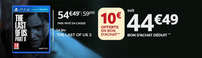 Précommande The Last of Us 2 pas cher + bon d'achat offert
