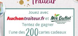 Jeu Auchan traiteur 2021 : 200 cartes cadeaux de 50€ à gagner