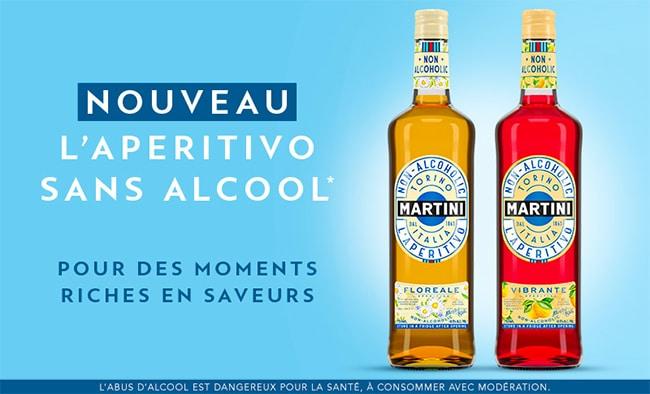 Testez gratuitement L'Apéritivo sans alcool Martini Floreale et Vibrante