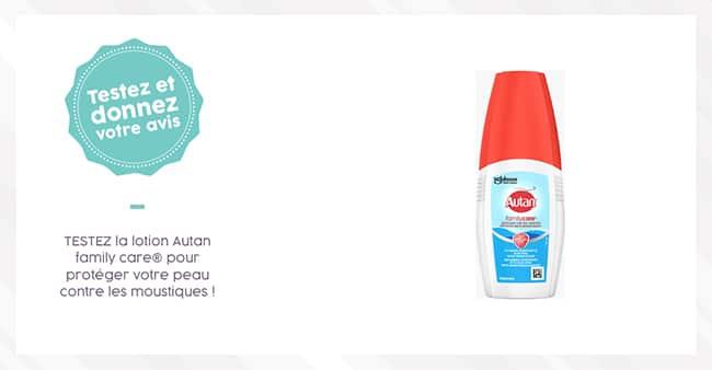 Tentez de tester gratuitement la lotion anti-moustiques Autan family care avec Aufeminin