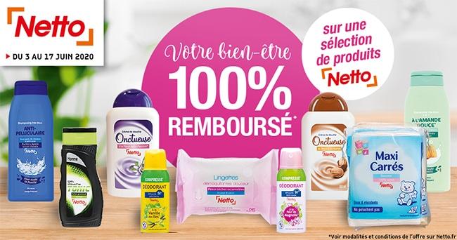 Obtenez jusqu'à 16 produits gratuits car 100% remboursés chez Netto
