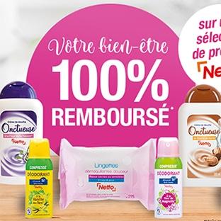 Netto Offre 100% remboursé : 13 produits gratuits