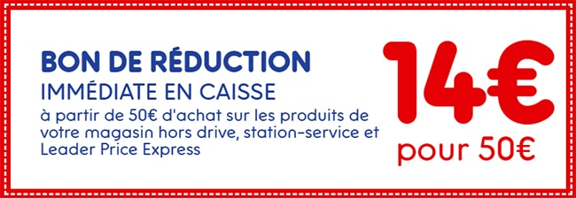 Bon De Reduction Leader Price De 4 A 20 De Remise