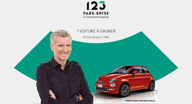 Tentez de remporter une voiture ou une carte cadeau de 100€ avec 123 pAre-Brise